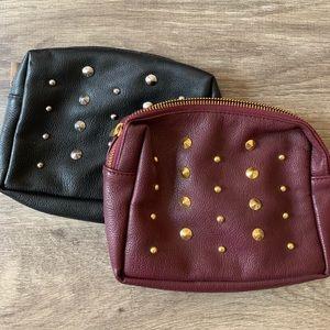 2 Stud Makeup Bags